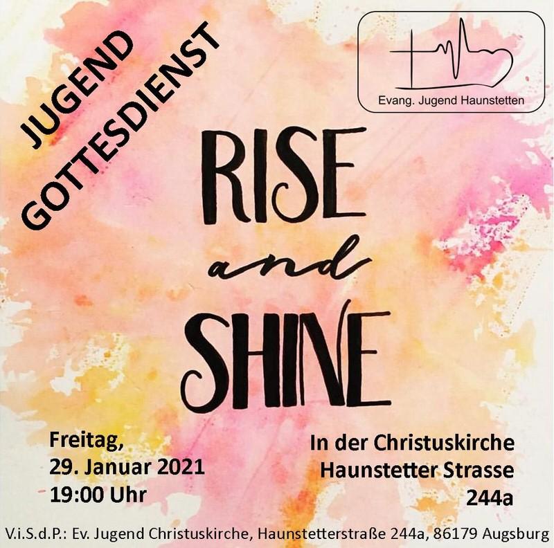 Plakat für den Jugendgottesdienst